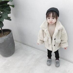 Image 2 - 女の子ジャケット厚く暖かい子供秋冬服子供男の赤ちゃんのため上着女の子コート2020幼児80〜綿130
