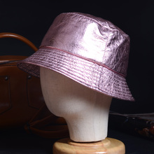 Women's Ladies Real leather Sunbonnet Fedoras Fishing Hat Bucket Hats Cloche Hat  Caps/Hats мужская бейсболка gwcaps oem chunglim sunbonnet baseball hat