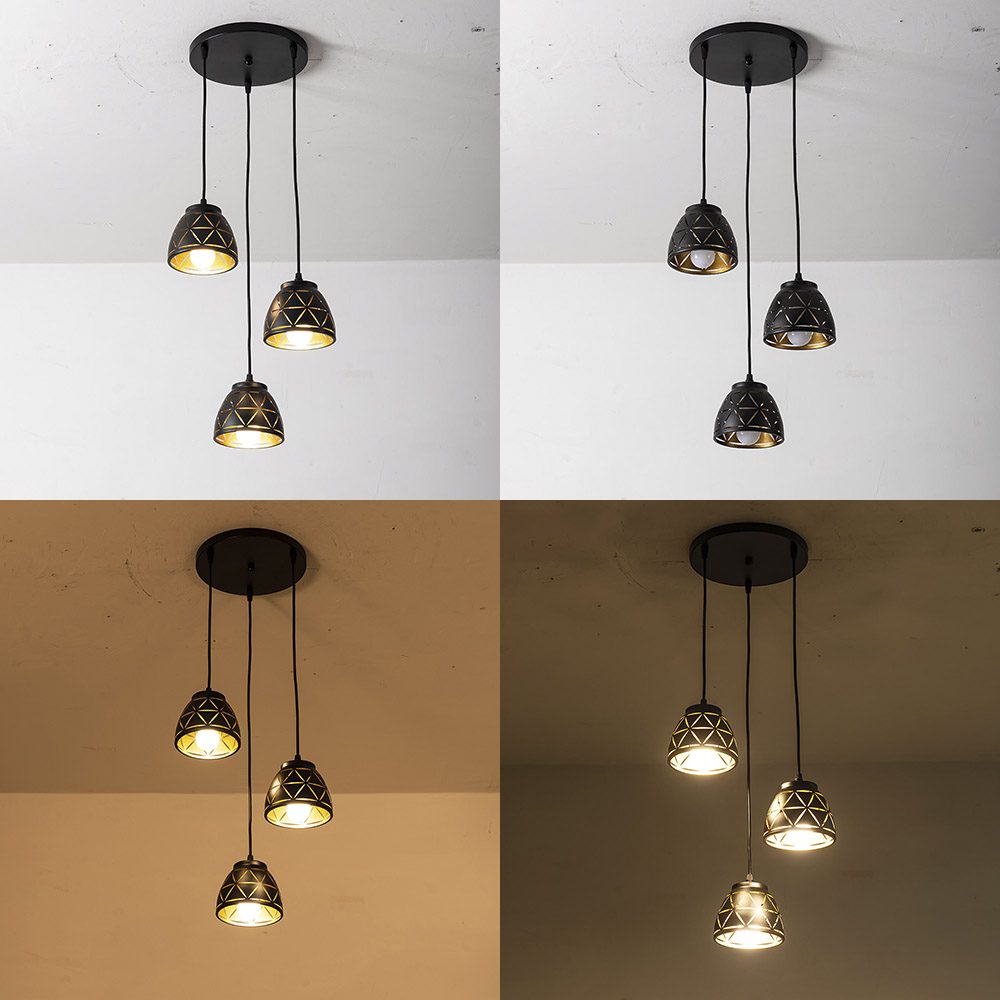 ZMJUJA Long And Round Led Ceiling Light For Dining Lamp With E27 Base 3pcs Led Bulb New Ceiling Lamp Led Nice Price