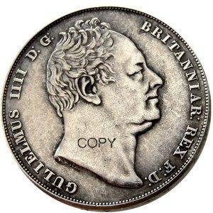 Великобритания набор из (1831 1834) 2 шт. Великобритании, Виллиам IV доказательство короны Посеребренная копия монеты