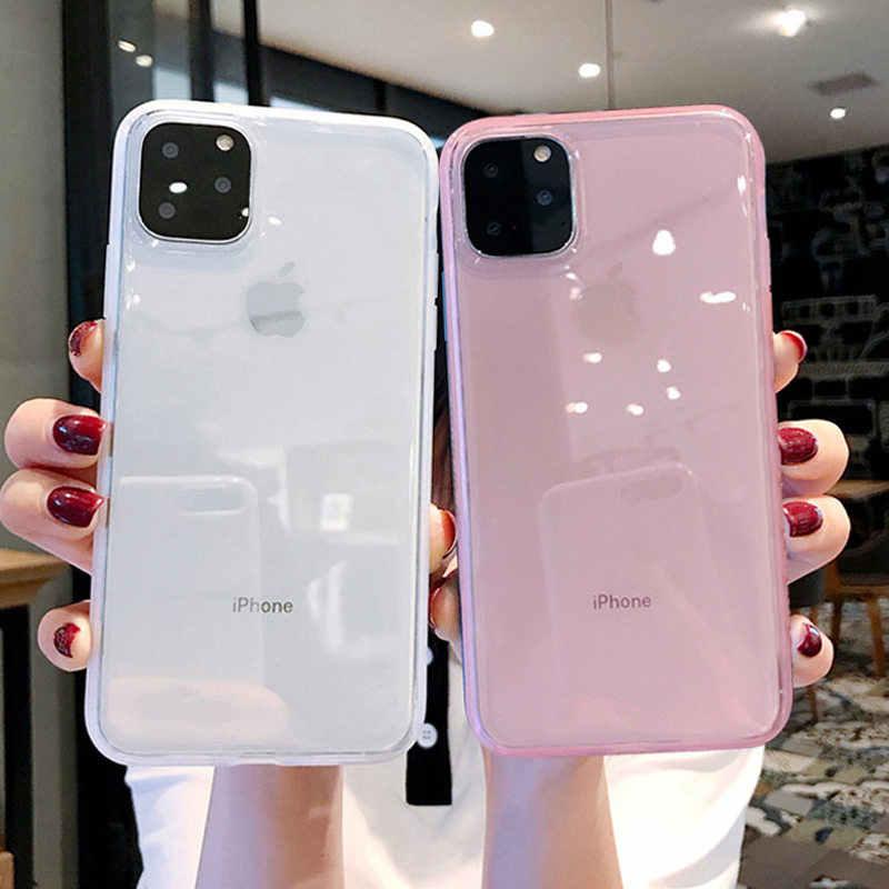 Lovebay צבעוני שקוף נגד הלם מסגרת טלפון מקרה עבור iPhone 11 פרו X XR XS מקסימום 7 8 6 6s בתוספת רך TPU הגנת כיסוי