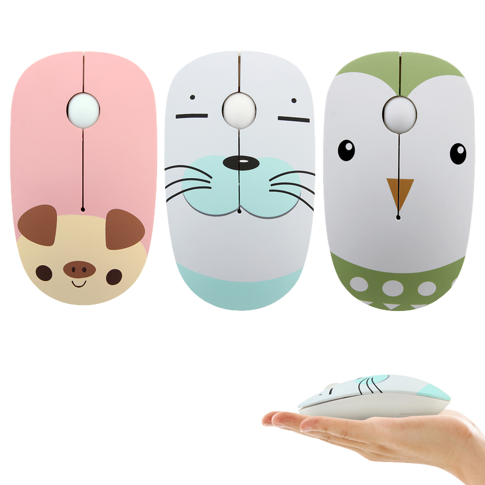 1PCS Mouse Mini Cartoon cat Wired Mouse USB 2.4 GHz Cable Cute Cartoon ABS Material
