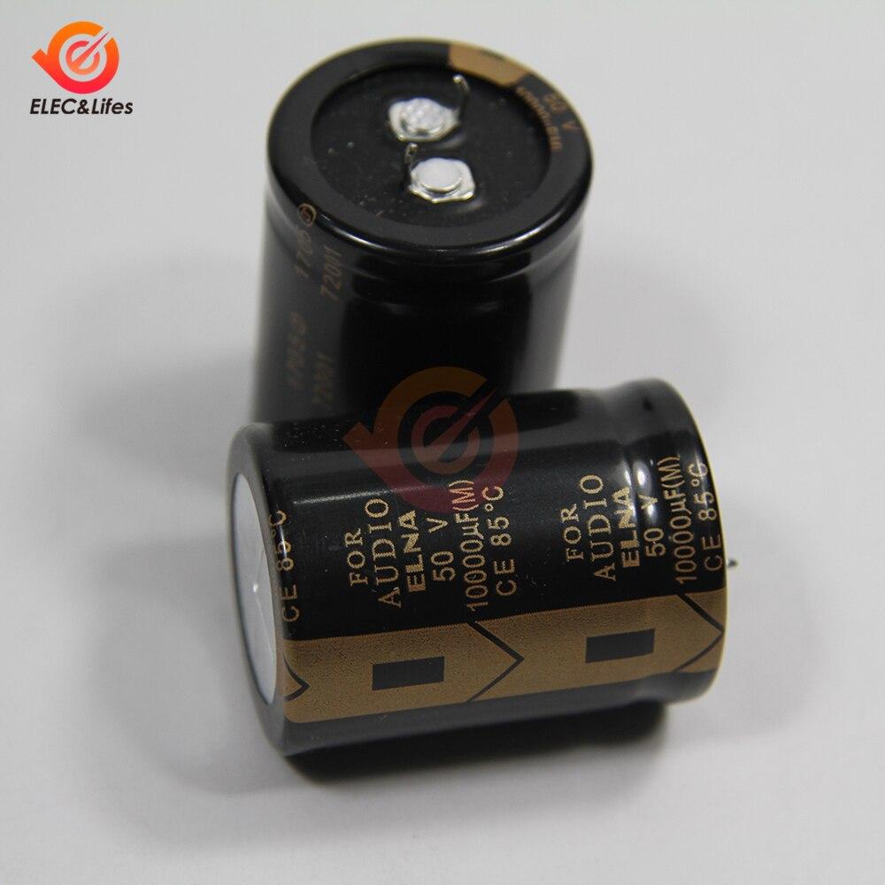 New Original ELNA 50V 10000μF Aluminum Electrolytic Capacitor LAO 10000μF50V 30X40mm Low ESR Capacitors for Audio Car Auto