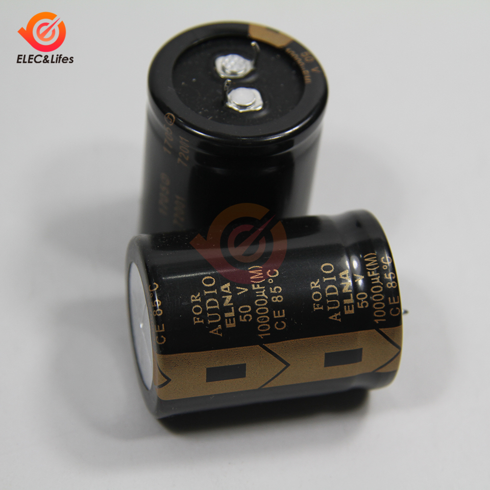 New Original ELNA 50V 10000μF Aluminum Electrolytic Capacitor LAO 10000μF50V 30X40mm Low ESR Capacitors For Audio Car Auto