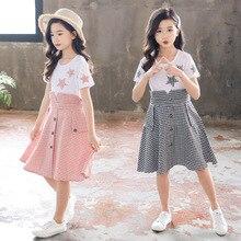 Kids Summer Dress 2020 New Girls Princess Dresses Children Plaid Clothes For Girls 4