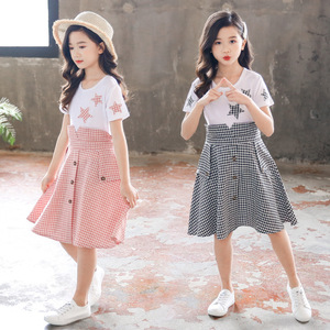 Kids Summer Dress 2020 New Girls Princess Dresses Children Plaid Clothes For Girls 4 5 6 7 8 9 10 11 12 Years Old(China)