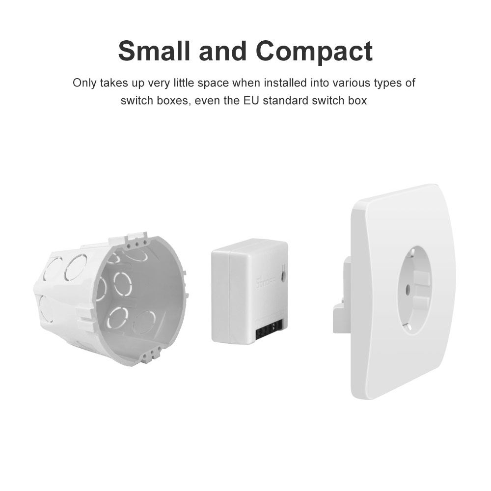 Itead Sonoff MINI DIY Smart Switch Small Body Remote Control Wifi Switch Support An External Switch Work With Alexa Google Home 2