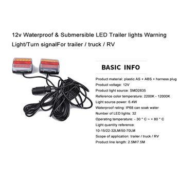 Luces De Remolque Sumergibles Led | 12v Impermeable Y Sumergible Luces De Remolque LED Luz De Advertencia/señalización De Giro Para Remolque/camión/RV