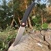 TUNAFIRE Pocket Knife High-end linen (Micarta) handle Ball Bearing Folding Blade Survival Hunting Knife Camping Portable EDC 1