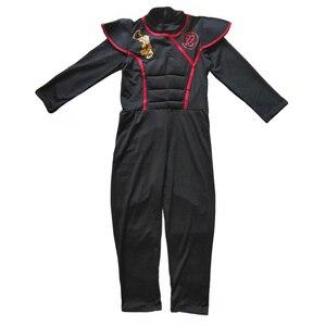 Image 2 - Halloween kostium dla dzieci Cosplay japoński Ninja kostium mięśni wojownik Ninja Kid Ninja kostium Weiwu czarny wojownik