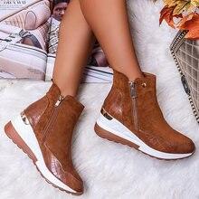 2020 зимняя женская обувь модные повседневные теплые зимние