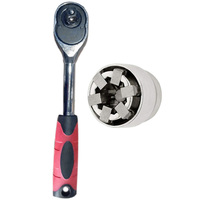 Multi Function Wrench Adaptive All Fitting Multi Drill Attachment Universal Socket|Wrench|   -
