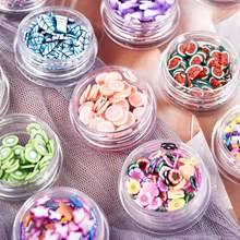 12 garrafas/pacote resina enchimento glitter argila macia mini flor fruta cola epoxy diy jóias de cristal artesanato resina molde decorações