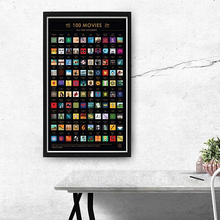 10наборы 100 фильмов скретч плакат - Лучших Фильмов Всех список времени (16,5 х 23.4)