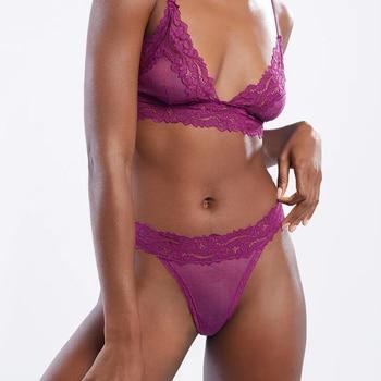 Sexy Lace Panties For Women Low Waist Transparent Breathable Ladies Briefs Thong T Back Femme Underwear Hot Sale Girls Lingerie 2