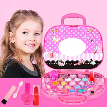 Princess Makeup Set Toy For Kid Cosmetic Girls Kit Pretend Makeup gift bellylady kids girl makeup set eco friendly cosmetic pretend play kit princess toy gift