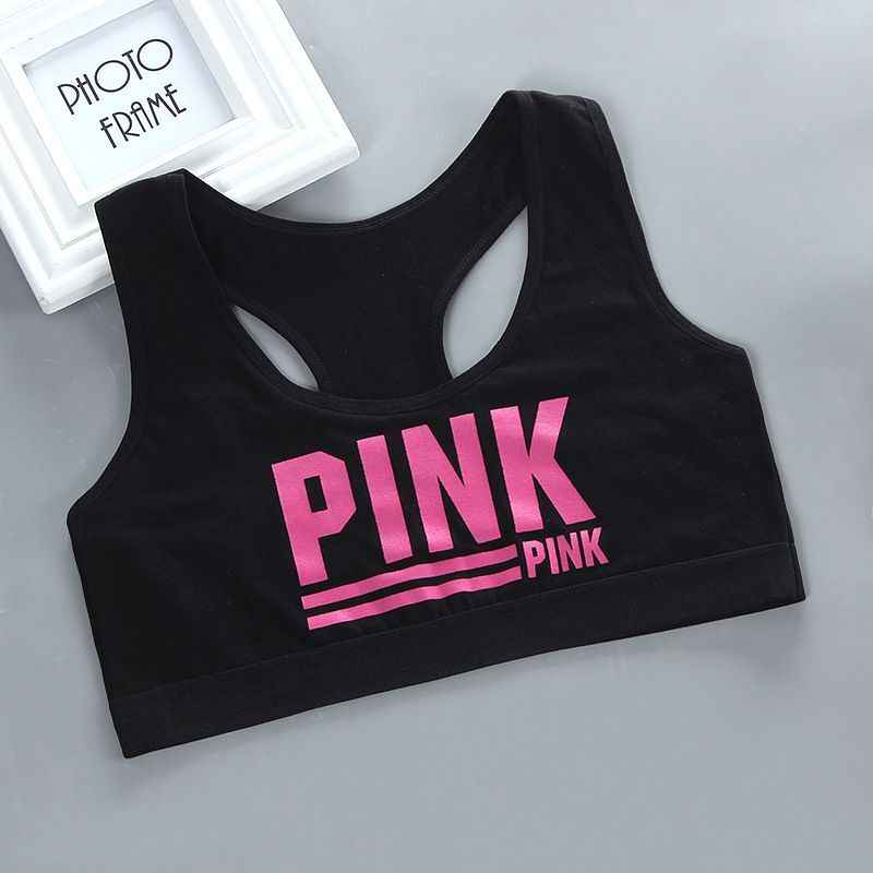 Teen Girl Sports Bra Kids Top Camisole Underwear Young Puberty Small Training Bra For 8-14years