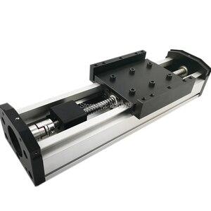 Image 4 - Бесплатная доставка, эффективный ход 50 400 мм, шариковый винт 1204 1605 1610, герметичный пыленепроницаемый линейный направляющий рельсовый слайд, модуль CNC XYZ Aixs