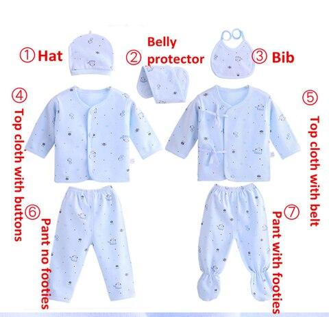 bebe 7 pacote conjunto de roupas infantil menino