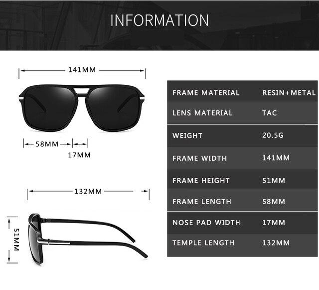Gafas de Sol polarizadas y cuadradas para hombre, lentes de sol masculinas a la moda, estilo cuadrado con gradiente, adecuadas para conducir, diseño vintage de marca, 2020 4