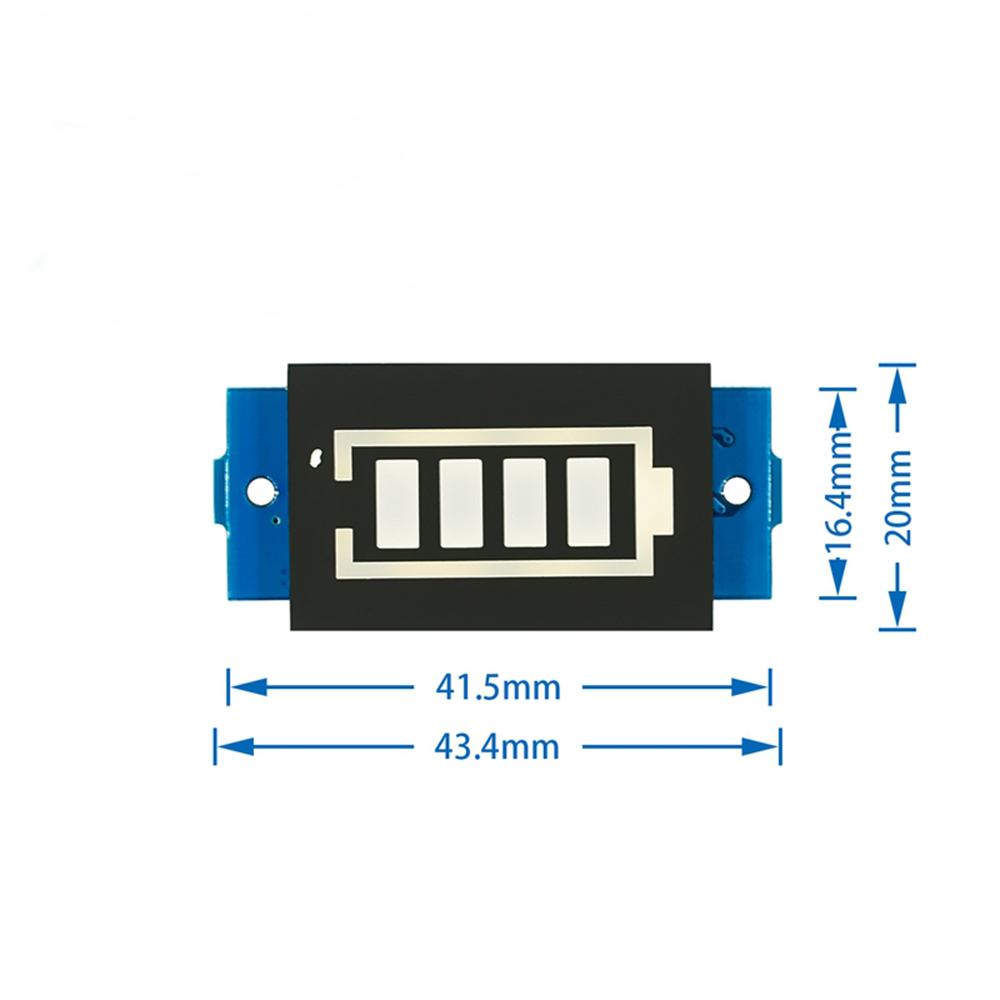 18650 LED Display Board 12V 3S Li-ion Lithium Battery LED Display Panel Battery Capacity Indicator Meter Blue Display Module
