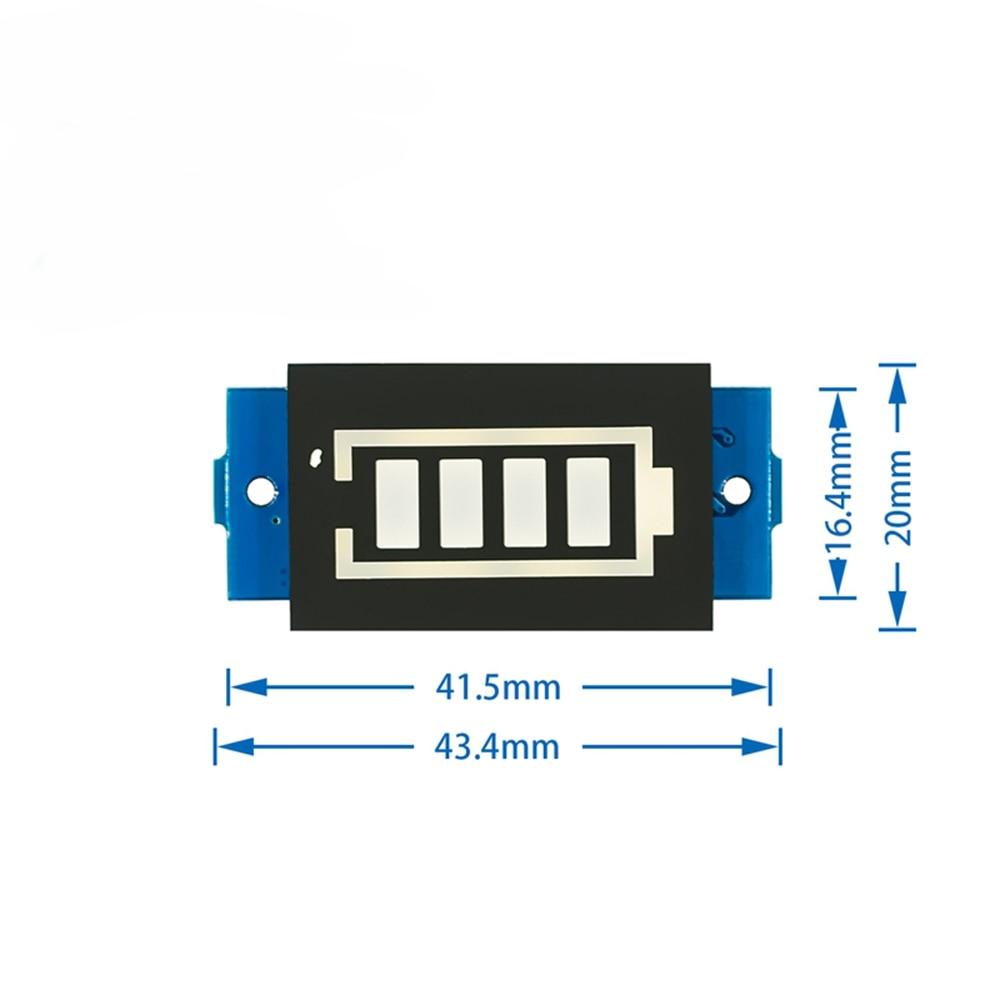 18650 LED Display Board 12V 3S Li-ion Lithium Battery LED Display Panel Battery Capacity Indicator Meter Blue Display Module