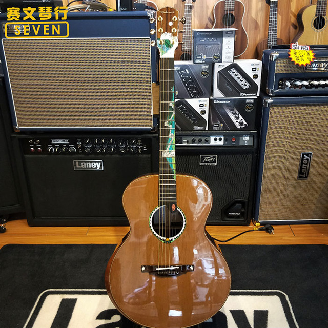 Handmade custom solid wood acoustic guitar, if you need to buy, please book 1 month in advance, and contact me