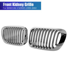A Pair Front Kidney Sport Grille Grill For BMW E46 3 SERIES 2 DOOR COUPE M3 1998-2001 ABS