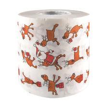 Горячая Распродажа 25 м Милый Рождественский Санта Клаус Олень принт для ванной Туалет Рулон Бумажных Салфеток джунгли вечерние рождественские украшения для дома