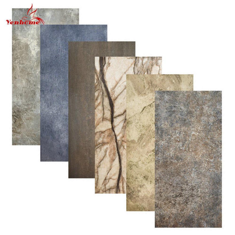 Adesivos de mármore para decoração, adesivos à prova d' água para parede de casa e banheiro, decalque de renovação para parede faça você mesmo