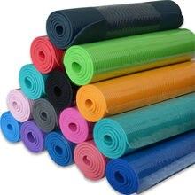 Коврик для йоги, нескользящий Спортивный Коврик для фитнеса толщиной 10 мм, удобный мат из пенополиуретана для йоги, упражнений, йоги, пилате...