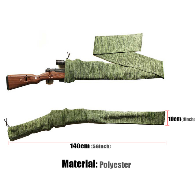 54inch Gun Sock 100% Polyester Silicone Treated Rifle Protection Cover Soft Fabric Tactical Hunting Rifle Caza Glock Accessory 2