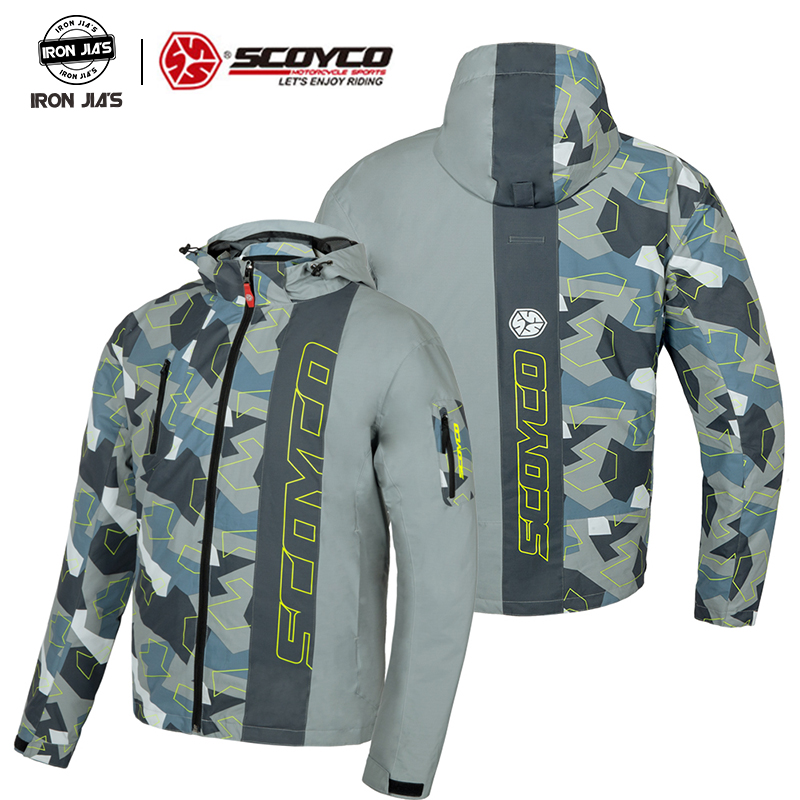SCOYCO Motorcycle Jacket Protective Gear Reflective Winter Motocross Jacket Breathable Moto Jacket Motorcycle Protection Armor