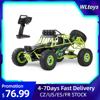 Wltoys 12428 1/12 RC Car 50km/h High Speed 2.4G 4WD Electric Racing Car Off-road Crawler Remote Control Car VS Wltoys XKS 144001 недорого