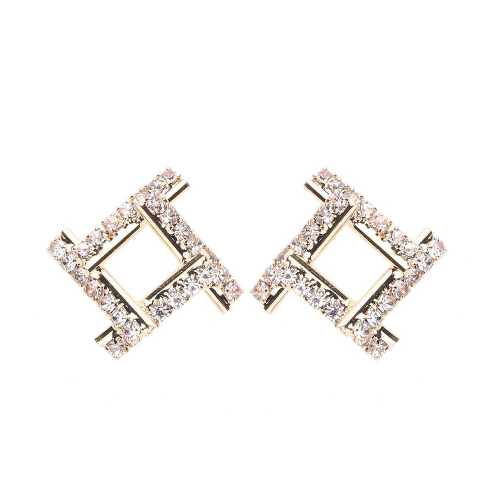 CARTER LISA Fashion Geometric Earrings For Women Earrings Jewelry 2019 Alloy Rhinestones Earrings Bijoux