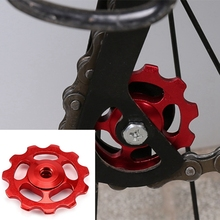 1Set 11T Bike Ultralight Aluminum Alloy Outdoor Bearing Wheel Rear Derailleur Pulleys Bicycle Parts-Red цена