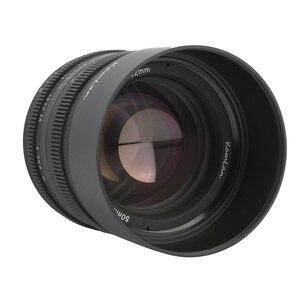 Image 4 - Kamlan 50mm f1.1 II APS C 캐논 M/Sony E/Fuji X/M43 미러리스 카메라 용 대형 조리개 수동 초점 렌즈 Lente para celular