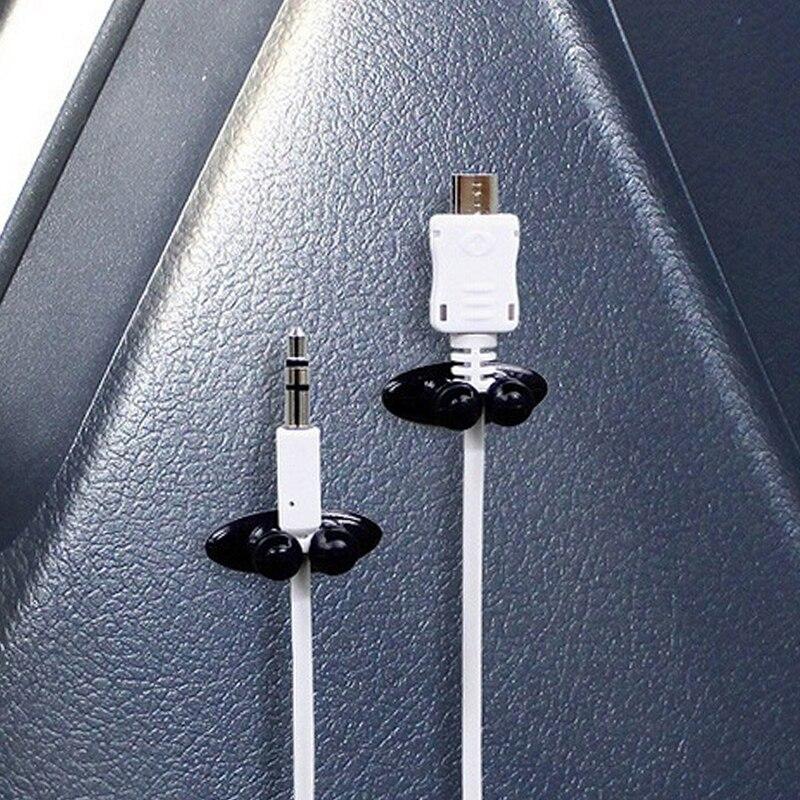 8 pçs titular do cabo de fio do carro multifuncional clipe de gravata fixer organizador carregador de carro linha fecho de alta qualidade fone de ouvido cabo clipe|Fechos e presilhas|   -