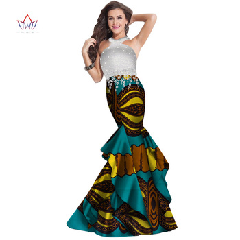 Summer Plus Size Sleeveless Dresses Women Traditional African Fashion Clothing Africa Dashiki Lace Long Natural Dress WY3960