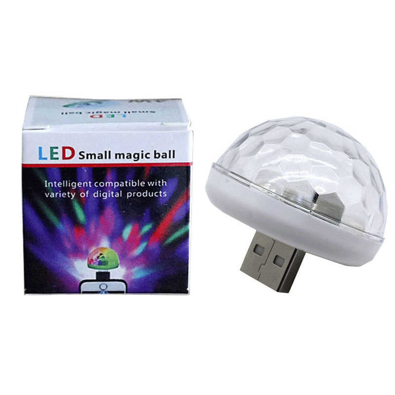 Mini USB RGB FÜHRTE Disco Bühne Licht Tragbare Familie Party Magic Ball Bunte Licht Bar Club Bühne Wirkung Lampe für handy