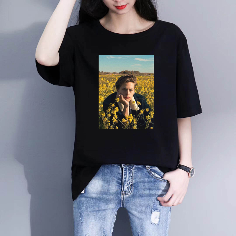 Cole Sprouse Aesthetic Funny Men T-Shirt Hipster Design Tshirt Short Sleeve Tops Women Tee Shirts Camiseta Hombre
