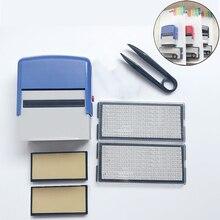 DIY Number Letter Stamp Set Custom Self Inking Seal Set Dial Seal Business Address Name Handicrafts Printing Rubber Stamp