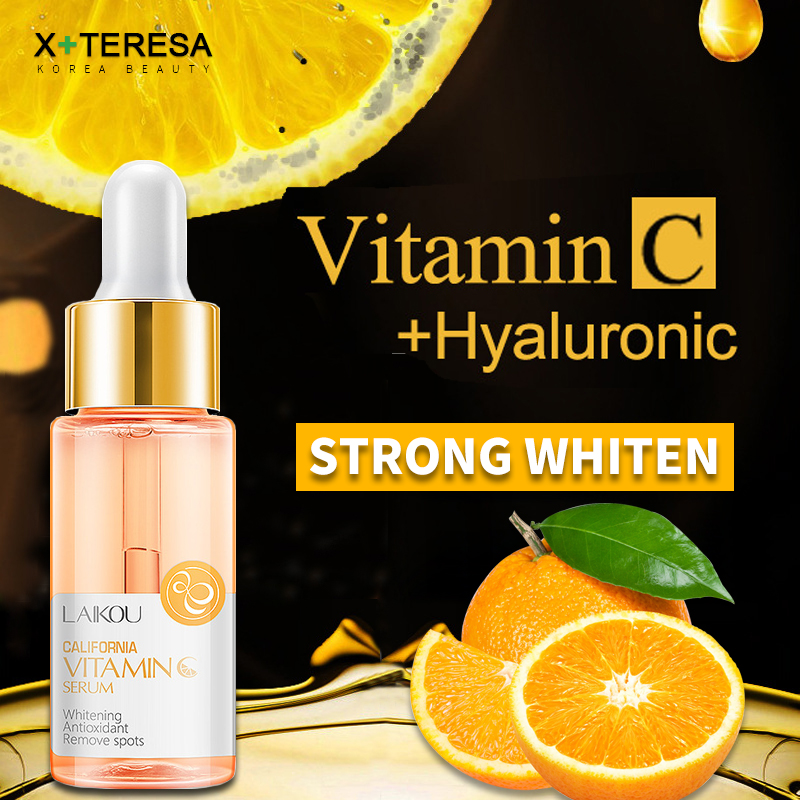 Pure Vitamin C Whitening Essence Vitaminc Face Serum Skin Care Melanin Dark Spot Removal Liquid Strong Whiten Brighten Facial image