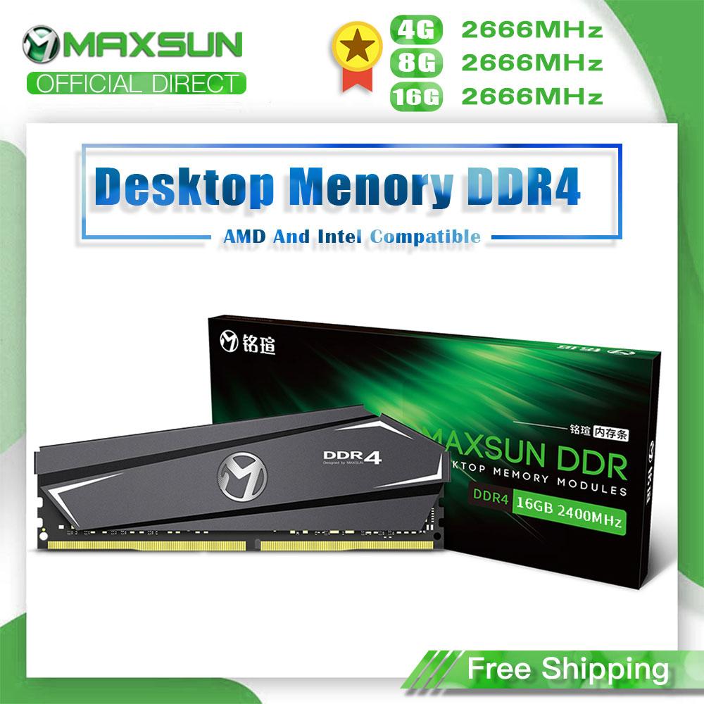 MAXSUN Ram DDR4 4GB 8GB 16GB Memory 2666MHz Lifetime Warranty Single Memoria Rams DDR4 1.2V 288Pin Interface Type  Desktop dimm 1