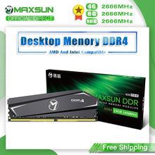 MAXSUN-Memoria Ram DDR4 de 4GB, 8GB, 16GB, 2666MHz, garantía de por vida, tarjetas de Memoria individuales, DDR4, 1,2 V, tipo de interfaz de 288Pin, dimm