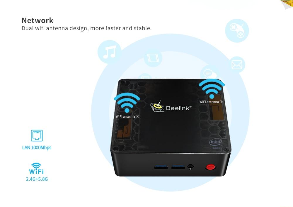 Beelink Gemini X45 Mini PC SEE J4105 Win10 8GB RAM 128/256/512GB mSATA SSD USB 3,0 1000Mbps WIFI BT 4,0 4K USB 3,0 Mini PC Linux