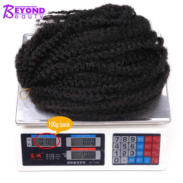Afro Kinky Marley Vlechten Haar 18 Inch Soft Jumbo Gehaakte Vlechten Hair Extensions Synthetische Rode Lange Ombre Marley Twist Haar