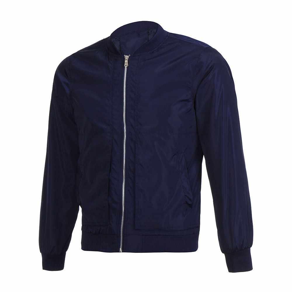 Yeni erkek ceketler kış sıcak moda rahat ceket palto dış giyim ince yüksek kalite uzun kollu fermuar sonbahar erkekler Tops bluz