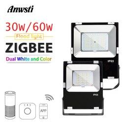 ZIGBEE Smart LED Flutlicht 30W 60W RGBCCT Outdoor Licht IP65 Wasserdichte ZIGBEE Licht Link AC 110V 220V Led-lampe Lampe Echo Plus