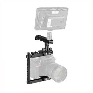 Image 4 - Kayulin מצלמה כלוב ערכת עם למעלה גבינת ידית & נעל הר עבור Canon 600D 70D 80D (ימין יד רכוב)